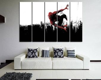 Spiderman Spiderman Canvas Spiderman Print Spiderman Wall Art Spiderman Decor Superhero Canvas Art Kids Room Marvel canvas Kids Canvas