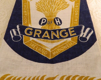 Vintage The Grange Tea Towel, Order of Patrons of Husbandry Tea Towel, Grange Member Gift, National Grange Tea Towel, Collectible, Gift