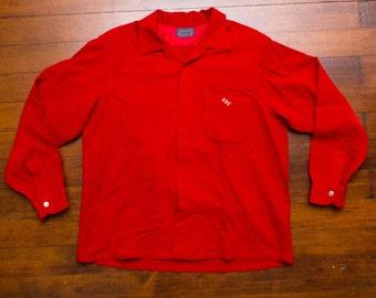 PENDLETON Men's Shirt Jac, sz XL -- Made in USA --> Red Wool