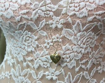 Dainty Golden Heart Locket