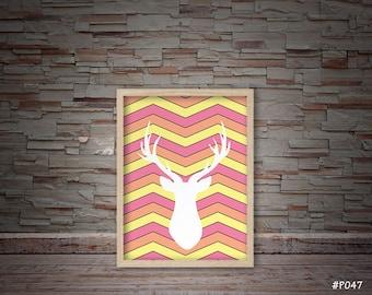 wall decor deer head #P047