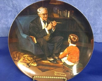 """Norman Rockwell """"The Tycoon"""" Decorative Plate - 1982"""