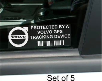 X Volvo Gps Tracking Device Security Stickers Car Alarm Tracker