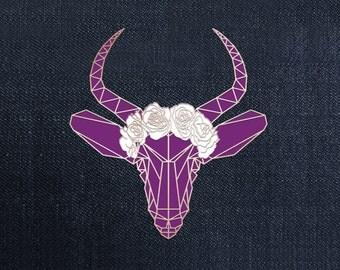 Plum Antelope Enamel Lapel Pin