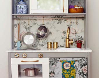 Decals For DUKTIG, Ikea, Vintage Roses Sticker Set, PACK OF 4, Furniture