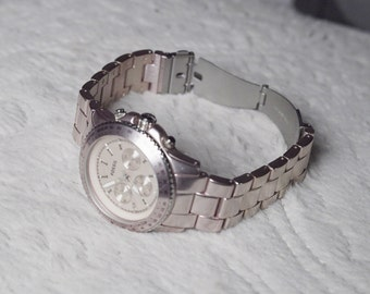Fossil - Pink Aluminum Ladies Watch!