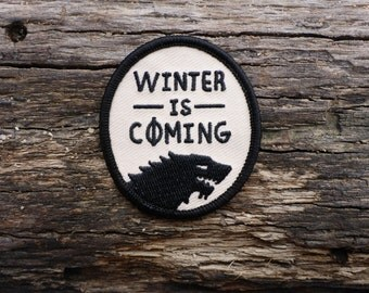 Winter Wolf Patch - Game Of Thrones Patch - Winter Is Coming Patch - Dire Wolf Patch - Stark Patch - Jon Snow Patch - House Stark