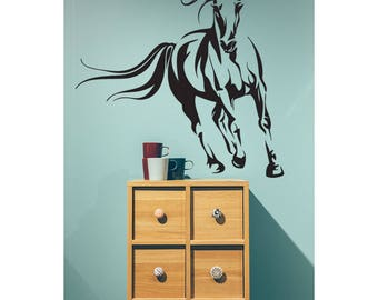 Horse Wall Decal, Animal Modern Decor, Horse Stickers, Wall Decal Bedroom  Decorations,
