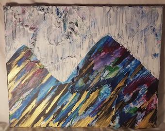 Original Painting - 'Reversible Mountains & Sky'