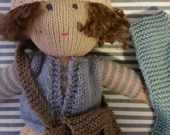 Dougie Frost - hand knitted doll
