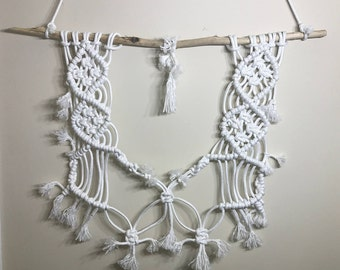Handmade white Modern Macrame