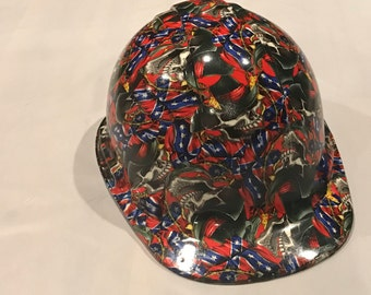 Custom hydrodipped hard hat