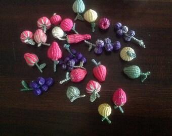 Mexican Folk Art: Miniature Berries in a Basket