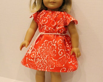 "18"" Red Doll Dress"