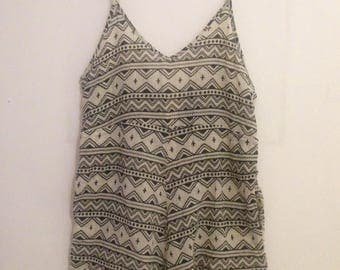 Printed Playsuit, size 6-8-10