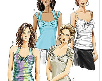 VOGUE TOP Sewing Pattern ~ Four Misses Tops 3 Sizes  8251