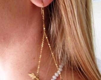 Gold Chandelier Vintage Earrings