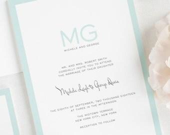 Modern Luxe Wedding Invitations - Deposit