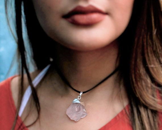 Rose Quartz Choker Necklace
