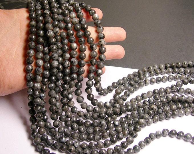 Larvikite black labradorite 8mm full strand 48 beads  - RFG309