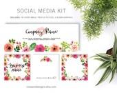 LipSense Floral Watercolor - Social Media Kit