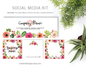 LipSense Floral Watercolor - Social Media Kit