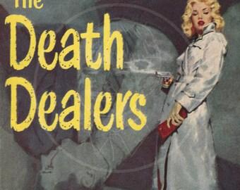 The Death Dealers - 10x15 Giclée Canvas Print of a Vintage Pulp Paperback Cover
