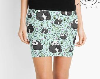 Panda Skirt, Panda Skirt for Women, Cute Panda Skirt, Panda Clothes, Panda Fashion, Panda Clothes for Women, Panda Fashion for Women