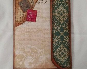 Pocket Journal - Hand Made - Vintage Look