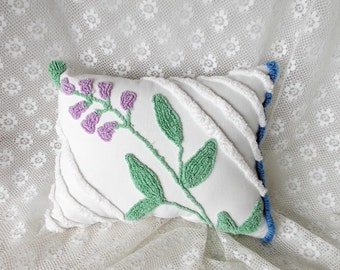 Chenille Pillow, Vintage Chenille, Accent Pillow, Cotton Pillow, Nursery Pillow, Throw Pillow, Decorative Pillow, Chic Pillow, Pillow #A14