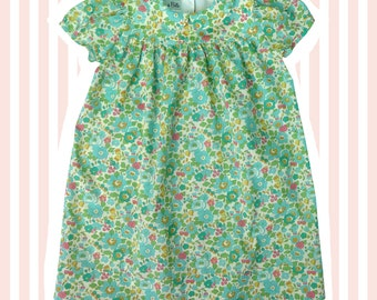 Girl's Liberty Print Peter Pan Smock Dress for Baby to 6 Years |  Betsy