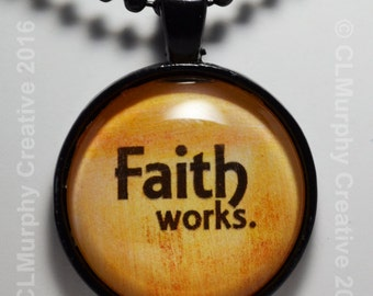 Custom Scripture Faith Hope One of a Kind Necklace Pendant Sobriety Necklace C L Murphy Creative