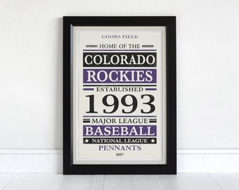 Colorado Rockies - Screen Printed Poster