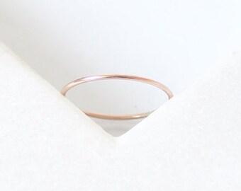 Minimal Ring • 9K Rose, Yellow, White Gold