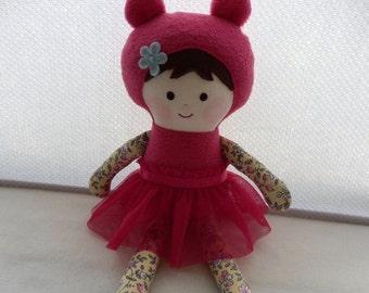 Handmade rag doll, plush doll, fabric doll,gift for girls, soft doll, cloth doll, child friendly, ragdoll,  softy doll,  doll for toddler.