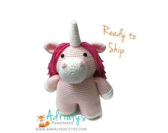 Clearance- Crochet Unicorn | Crochet Toy | Pink Unicorn | Unicorn Gift | Unicron Party | Crochet Animals | Unicorn Plush | Ready to Ship
