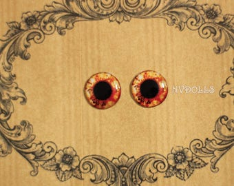 Resin Blythe Eye Chips 14mm R083, Pullip Eye chips, Icy eyechips, fantasy eye chips