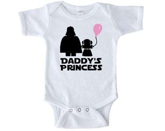 Daddy's Princess Star Wars Bodysuit - Darth Vader - Daddy's Princess Shirt - Baby Star Wars Gift - Star Wars Baby - Baby Shower Gift