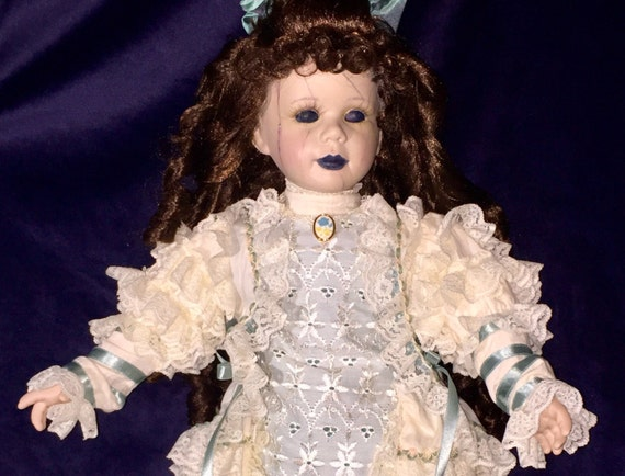 Charlotte Cleave Original Undead Large Cracked Porcelain Face Fancy Dressed Biohazard Baby