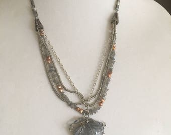 BeadsRising seascape necklace