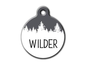 Tree dog tag,Outdoor pet tag,hiking pet tag,unique pet id tag,dog tag for dogs,custom pet id tag,boy dog tag,forest pet gift,Pet tag,PET157