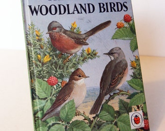 Heath & woodland Birds Vintage Ladybird book Nature First Edition Hardback 1968 Bird Spotting, with Illustrated Ornithology guide