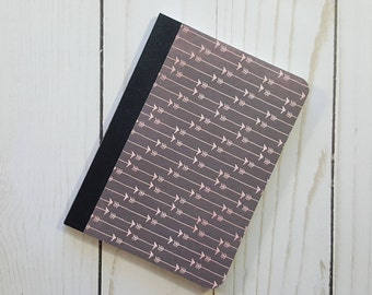 Mini Notebook, Pink Arrows Notebook, Diary, Writing Journal, Small Notepad, Journal, Altered Composition Book, Pocket Notebook