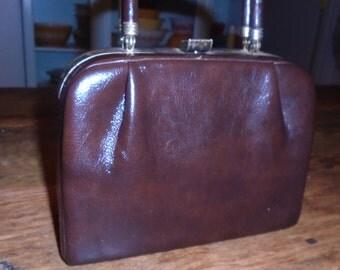 Vintage Brown Suitcase Purse