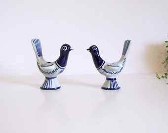 Soholm Denmark Ceramic //Bird Pair of Candle Holders By Gerd Hiort Petersen 1960's // Modernist bird candle holders