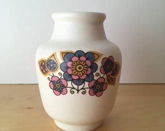Sweet Vintage Sylvac Ware Bud Vase- Retro Floral Design