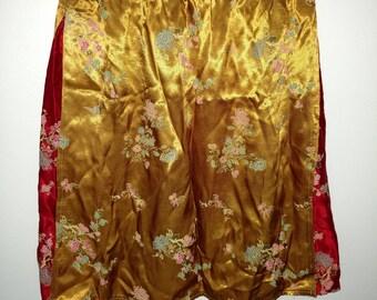 90s Floral Sukajan Mini Skirt XS/S