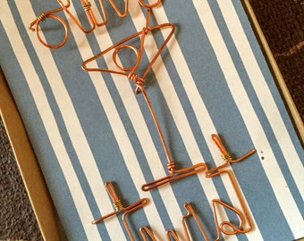 FREE SHIPPING! martini pushpins. thumbtacks. cork board pin. candle jewelry. martini picks. birthday. gift wrapped. hostess gift. set of 3