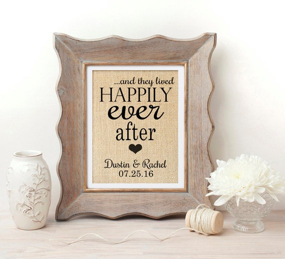Wedding Gift Ideas For Young Couples: Happily Ever After Sign Wedding Gift For Couple Valentines