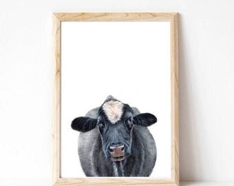 farm animal prints, cow, boys room decor, kids room art, nursery wall decor, nursery art, animal nursery print, animal wall art, wall decor